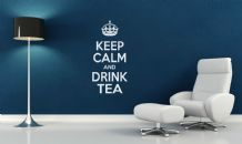 Keep Calm and Drink Tea Wall Art Quote, Wall stickers, Wall Decal